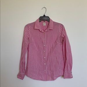 J.CREW The Perfect Shirt Button Down Pink Gingham